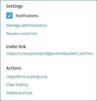 Как сделать ссылку на групповой чат в Telegram